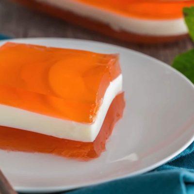 Желе слоями - пошаговый рецепт, основное фото