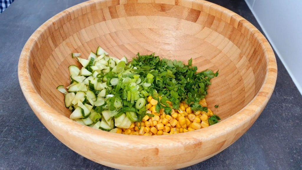 Салат из красной фасоли — пошаговый рецепт, шаг 3