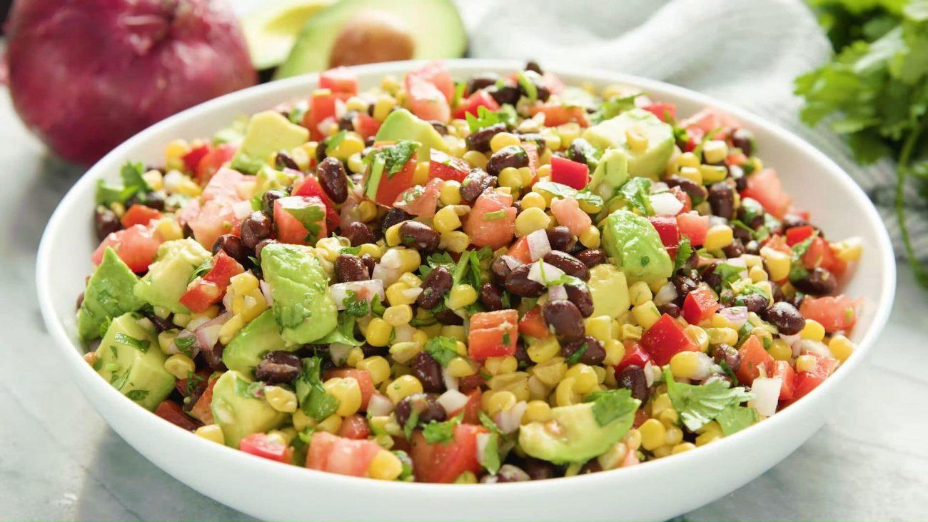 Салат из красной фасоли — пошаговый рецепт, основное фото