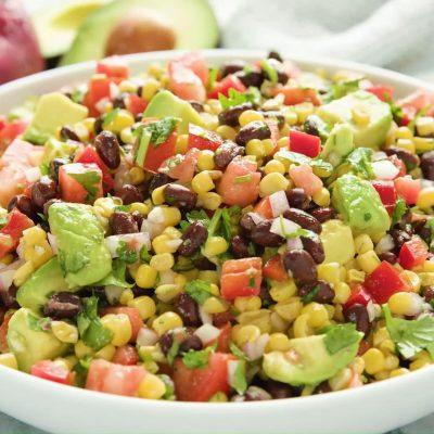 Салат из красной фасоли - пошаговый рецепт, основное фото