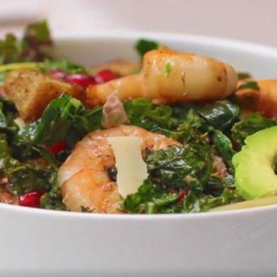 Салат с креветками - пошаговый рецепт, основное фото