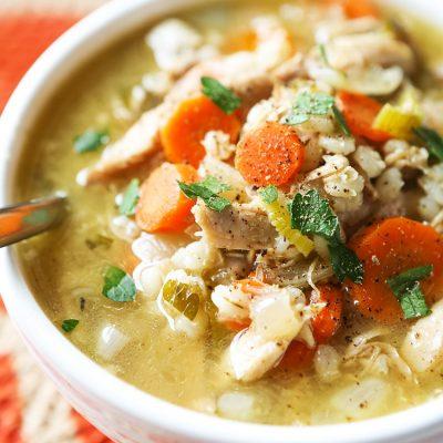 Суп из индейки - пошаговый рецепт, основное фото