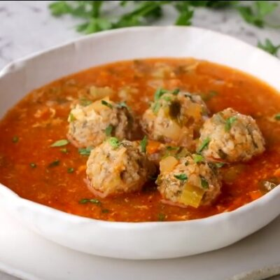 Суп с фрикадельками и сыром - пошаговый рецепт, основное фото