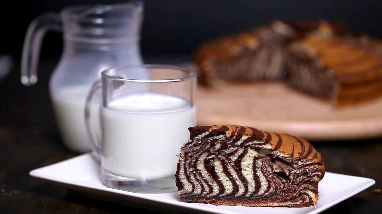 Торт Зебра — пошаговый рецепт, основное фото