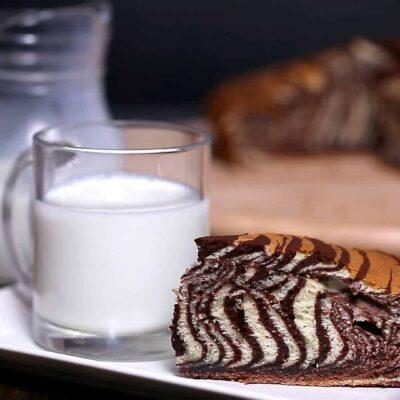 Торт Зебра - пошаговый рецепт, основное фото