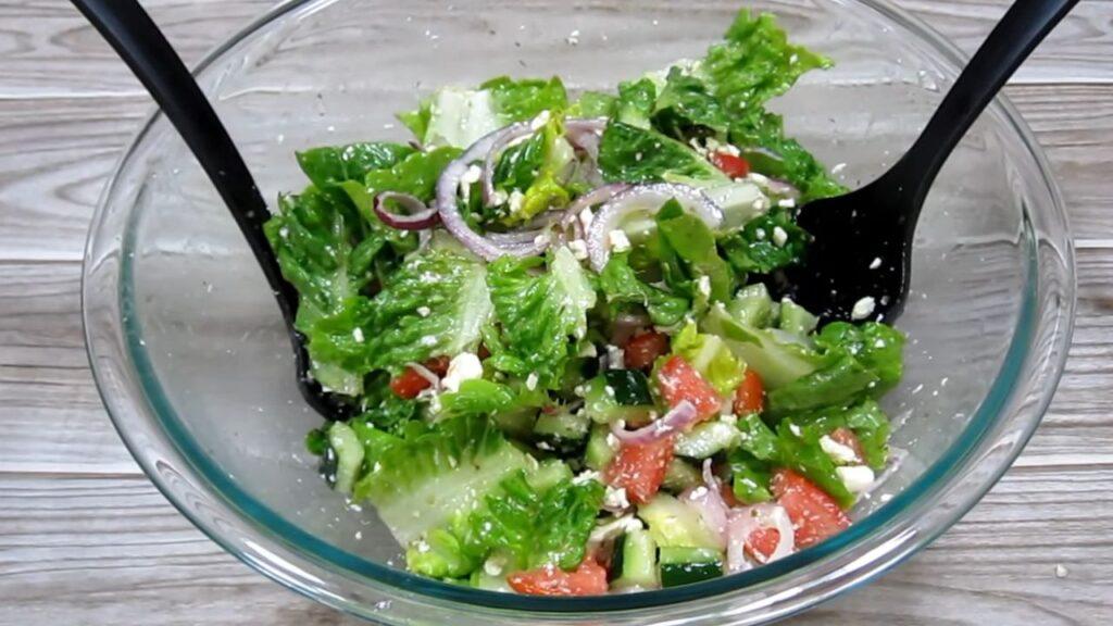Греческий салат без маслин — пошаговый рецепт, шаг 5
