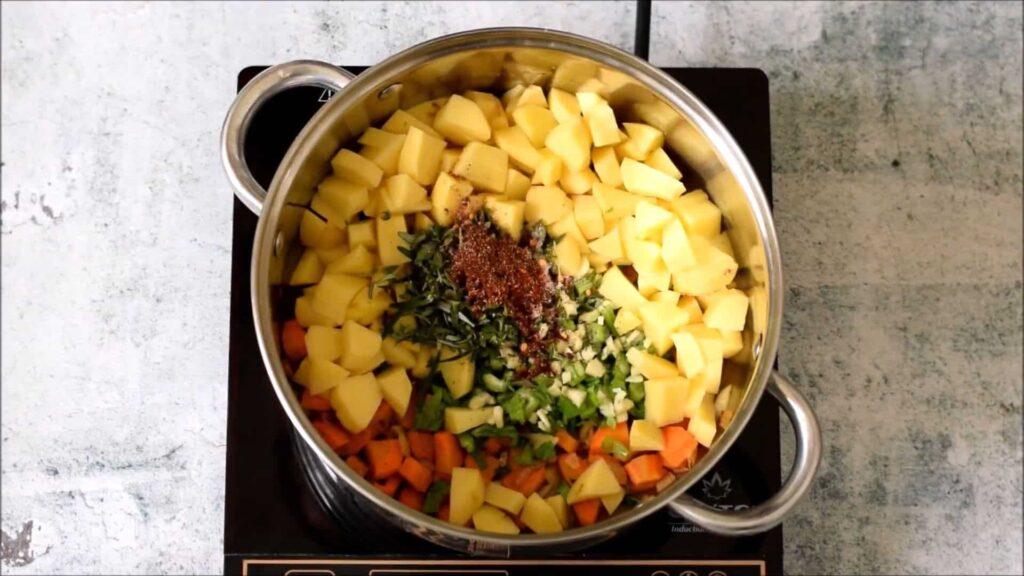 Вегетарианский гороховый суп — пошаговый рецепт, шаг 3