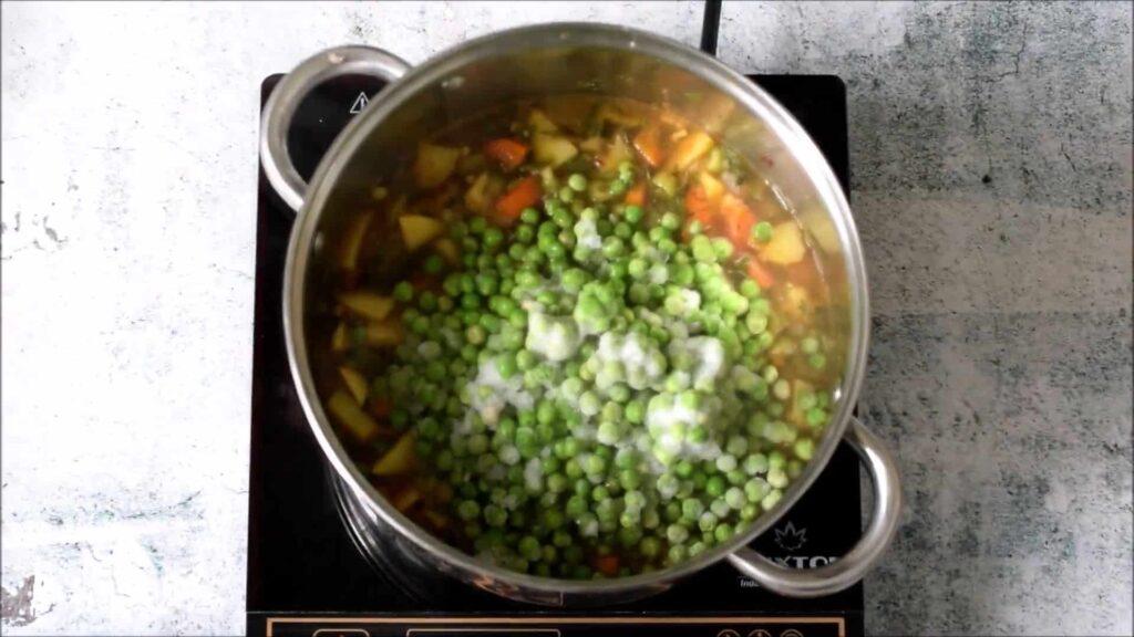 Вегетарианский гороховый суп — пошаговый рецепт, шаг 5