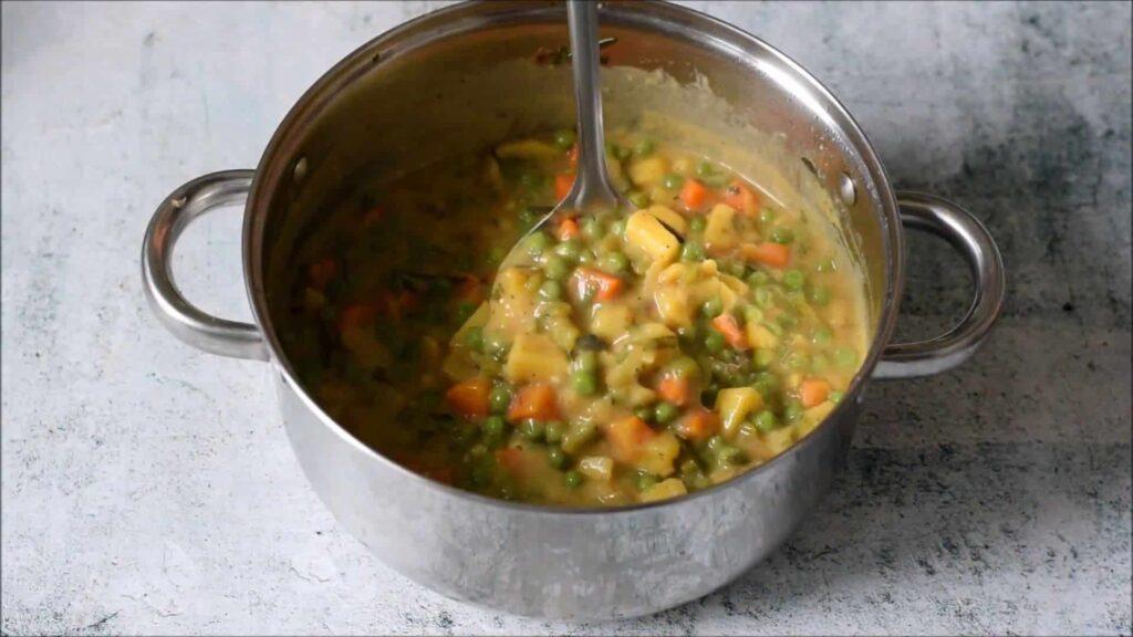 Вегетарианский гороховый суп — пошаговый рецепт, шаг 6