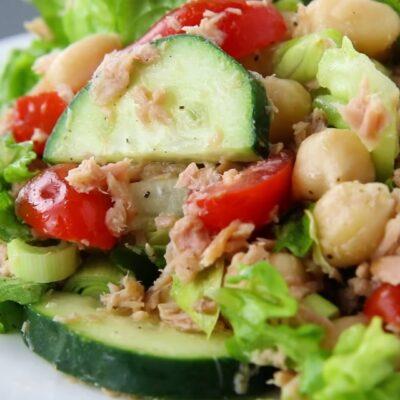 Салат с тунцем- пошаговый рецепт, основное фото